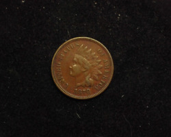 Hsandc 1870 Indian Head Penny/cent Xf - Us Coin