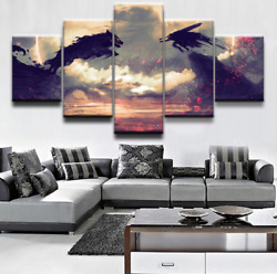 Anime Berserk Guts Wolf Pictures Canvas Print Painting Poster Wall Art 5 Pieces