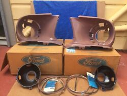 1967-1968 Mustang Headlight Assembly Complete Rh And Lh Exc Gt350/500 Ford Nos