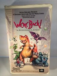 We're Back A Dinosaur's Story Vhs 1994 Clamshell Spielberg Goodman Tested Works