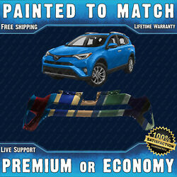 New Painted To Match - Front Upper Bumper For 2016 2017 2018 Toyota Rav4 W/ Park