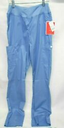 White Cross Women#x27;s Yoga Inpsired Scrub Pant Ciel Blue Small Tall $14.95
