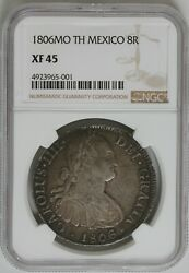 1806mo Th Mexico 8r Ngc Xf 45 - Spanish Colonies Foreign Coin Reale