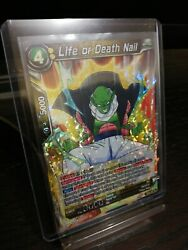 Dragonball Super Card - Life Or Death Nail Shattered Refractor Holofoil Rare.
