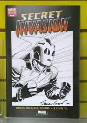 Secret Invasion 1 Variant Cover With Original Rocketeer Sketch By Sean Chen