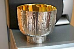 + Antique 60 Year Old Chalice + Hand Crafted In Europe + 3 Available Cu351abc