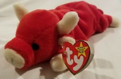 Rare Snort Beanie Baby W/ Tags Intact. Mint Conditionandnbspfrom Original Owner