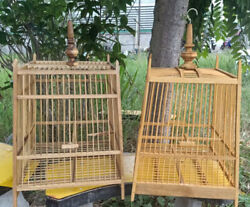 Bird House Cage Birdcage Wire Antique Vintage Wood Style Decorative 15 Teeth Dhl