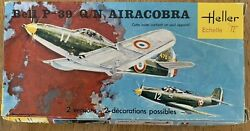 Heller Bell P-39 Q/n Airacobra Fighter - 1/72 Scale - Vintage 1977 Kit
