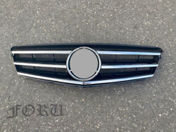 For Benz W204 Grille C-class C250 C300 C350 Front Bumper Body Kit Grill Cover
