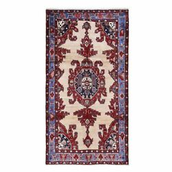 5'3x9'10 Gallery Size North West Farsian Pure Wool Hand Knotted Rug R49830