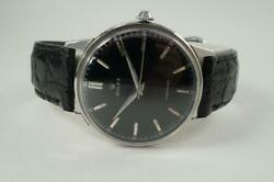 Rolex 4363 Precision Stainless Steel Large 35 Mm Case Black Dial Dates 1962