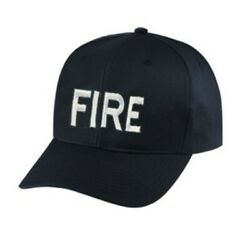 Fire Dept Ball Cap Black One Size Fits All