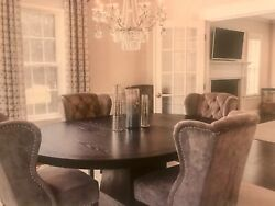 Arhaus Leighton 62andrdquo Kitchen/dining Room Table With Choice Of 6 Chairs