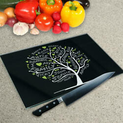 Premier Range Your Own Word Collage On A Glass Chopping Board