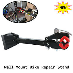 1x Foldable Heavy Duty Wall Mount Repair Stand Bicycle Rack For Bike W/ Screws