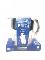 Brita Large 10 Cup Water Filter Pitcher with 1 Standard Filter BPA Free – Grand