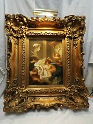 Angelica Kauffmann Cherubs Sculpture Oil Painting Signed By E. Anthony