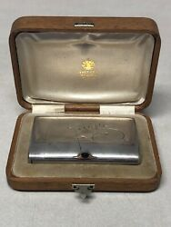 Russian Faberge Silver Cigarette Case With Match Compartment