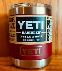 Brand New Authentic Yeti Rambler Lowball Tumbler 10oz With Lid Choose Color