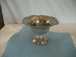 Pewter Compote - Small 3.5 High 5.5 From Edge To Edge Slightly Damaged
