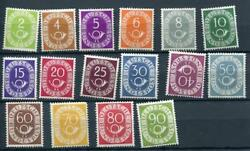 Germany 1951 Sc 670-685 Mi 123-138 Mnh Numerical And Post Horn Cv 1800 Euro 2492