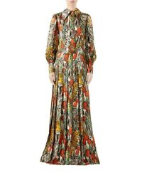 Custom Made To Order Garden Animal-print Pleated Shirtdress Gown Plus1x-10xy948