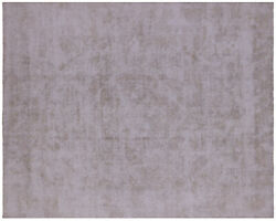 9and039 8 X 12and039 3 Vintage White Wash Hand Knotted Rug - Q4623