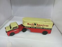 Vintage North American Van Lines Truck And Trailer Tin Toy 231-d