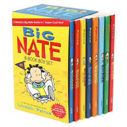 Big Nate 8 Book Box Set By Lincoln Peirce Childrens Books Kids Reading Material