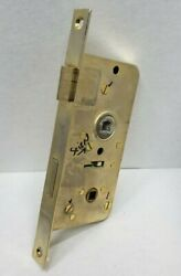 Mortise Lock Rh Privacy Gsv 40mm Backset Used Tested Functional Pvd Plated Brass