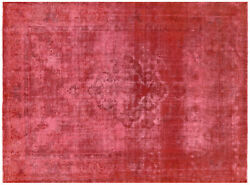 9and039 1 X 12and039 4 Overdyed Hand Knotted Rug - Q4734