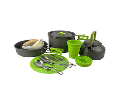 17 Pc Lightweight Compact Camping Cookware Set - Camp Cooking Kit Outdoor Gear