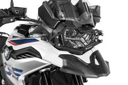 Headlight Protection Stainless Steel Black With Quick For Bmw F850gs/f750