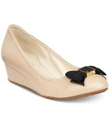 Cole Haan Women's Tali Grand Bow Wedge Pumps Size 8 - Nude