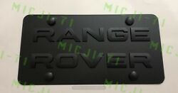 Range Rover Car Auto Front Heavy Duty Vanity Stainless Metal License Plate Tag