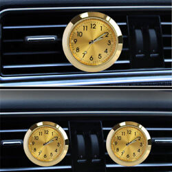 1x Auto Quartz Watch Styling Clock A/c Air Outlet Perfumes Refill Freshener Gold