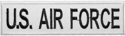 Us Air Force Nametape Tab U.s. Usaf Army Military Costume Sew Iron On Patch Wb T