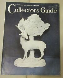 THE ANTIQUE DEALER AND COLLECTORS GUIDE AUGUST 1965 STAFFORDSHIRE ANIMAL ZOO