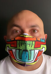 GRAFFITI DESIGN FACE MASK WASHABLEADULT ONE SIZE FITS MOST $8.00