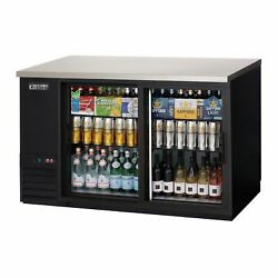 Everest Ebb59g-sd 57 Two Section Back Bar Cooler With Glass Door 17.0 Cu. Ft.