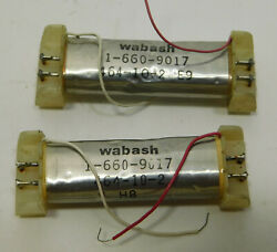 Lot Of 2 Each Wabash 464-10-2 E9 1-660-9017 Reed Relay