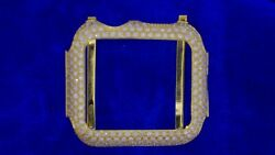 Apple Watch Gold And Diamond Case 180 Diamonds 4.25 Carats For Gen 4 Perfect Fit