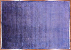 5and039 11 X 8and039 9 Hand Knotted Overdyed Full Pile Wool Area Rug - P9923