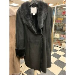 Beautiful Calvin Klein Coat, New With Tags, Originally 2500, Black, Size M