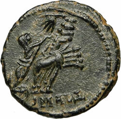 Constantine I The Great Chariot To God Hand In Heaven Ancient Roman Coin I85012