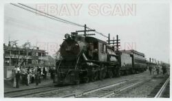 8j283 Rp 1950s Jersey Central Railroad 4-4-2 Camelback Loco 592 Crr Of Nj