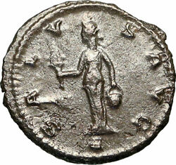 Claudius Ii Gothicus Authentic Ancient 268ad Antioch Roman Coin W Isis I84922
