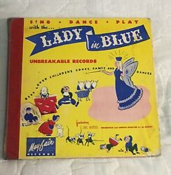 Antique 40andrsquos Vinyl Sing-lady In Blue Unbreakable Records Mayfair Records 2@10andrdquo