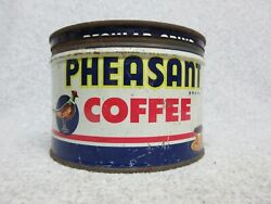 Old Pheasant Coffee 1 Pound Tin Can With Correct Lid Portland Oregon